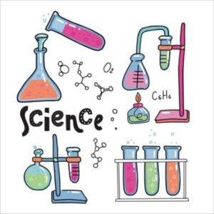 des fioles de chimie colorée pour des expériences scientifiques à faire faire aux enfants