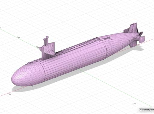 dessin de sous-marin en 3D pour impression 3D